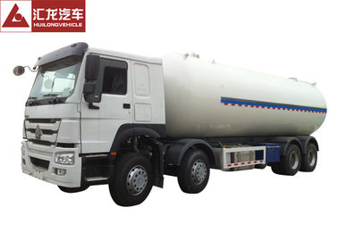 HOWO Chassis LPG Semi Trailer Cấu trúc hai lớp Turbo Chargeed Engine